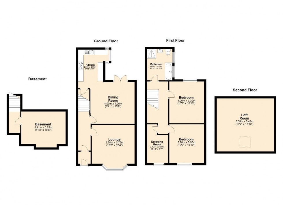 Floorplan for West View Terrace, Preston